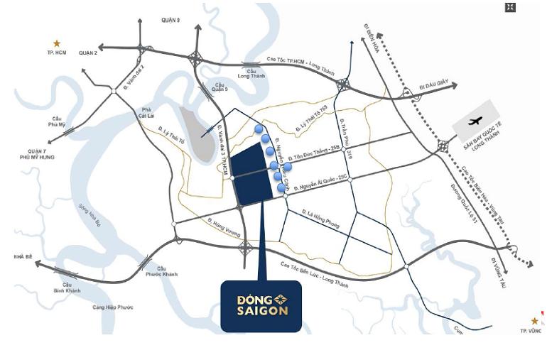 Vi trí dự án Đông Saigon New City